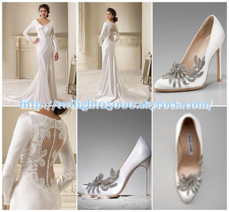 Achetez Vous La Robe De Mariée Et Les Chaussures De Bella
