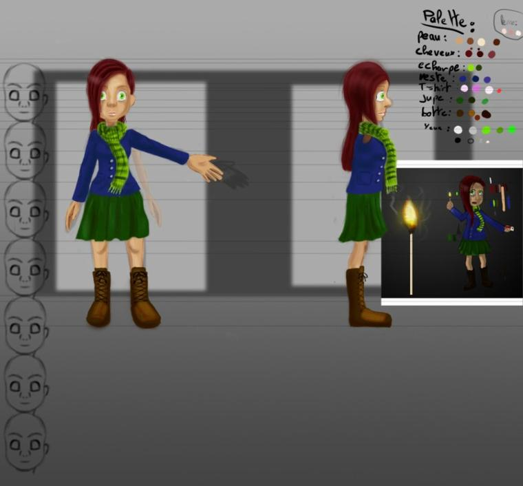 celia model sheets WIP correction