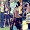 Cet été, Elle Fanning a été capturé sur le tournage de « The Runaway », film événement avec Kristen Stewart & Dakota Fanning. Encore une fois, les deux s½urs ont l'air très proches. Vive les plateaux repas ! x)