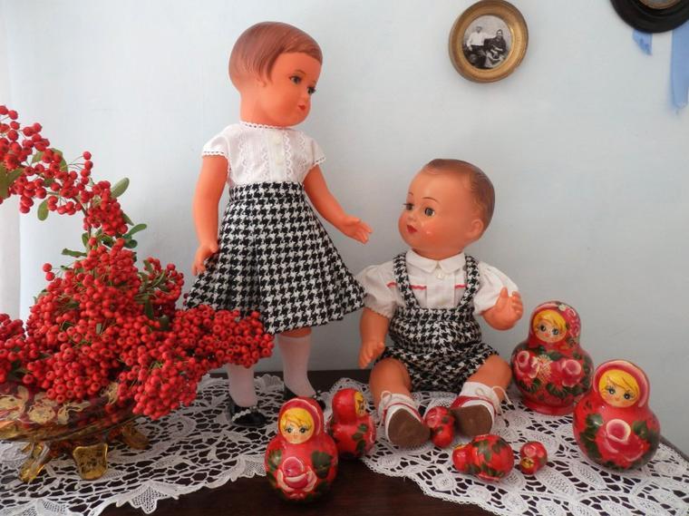 Jolie Françoise et son petit frère !