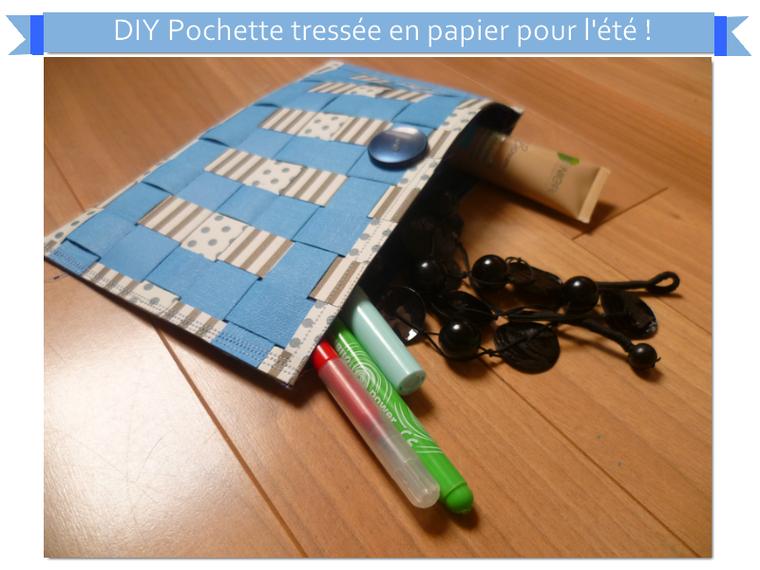 Diy pochette tress e en papier - Pochette en papier ...