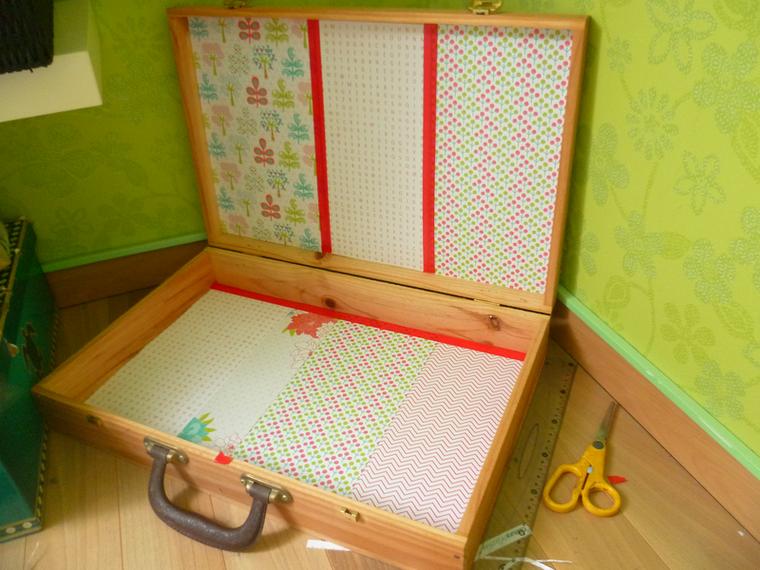 DIY Upcycling - Une valise en bois en coin détente