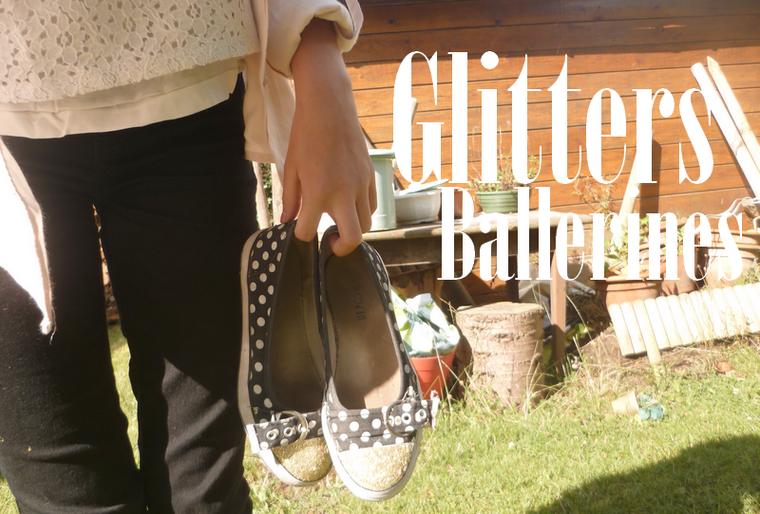 DIY Ballerines glitters de fête