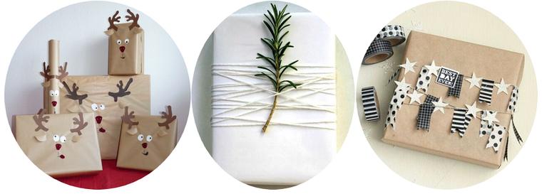 La minute créative #3 Paquets cadeaux DIY