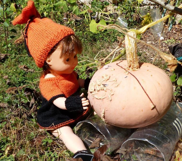 Tenue d'octobre au tricot pour Marie-Françoise.