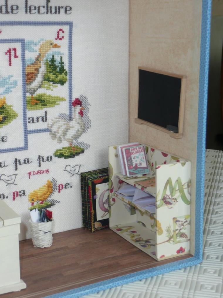 Vitrine miniature : Deux écoles pour deux petites filles