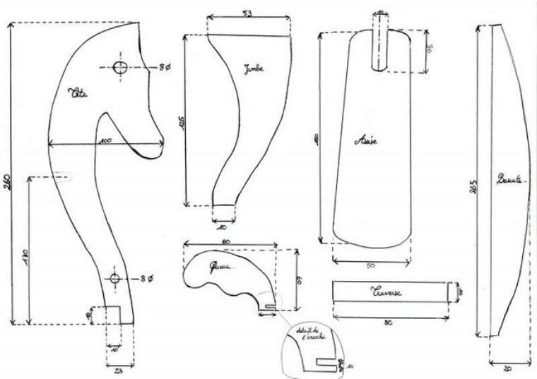 fabriquer un cheval en bois pour poup es blog de aupaysdutricotdespoupees. Black Bedroom Furniture Sets. Home Design Ideas