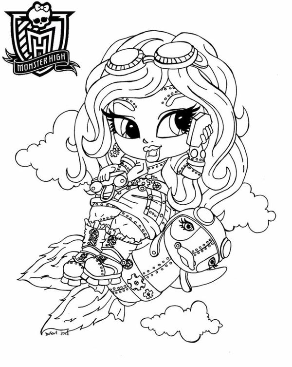 Coloriages monster high le blog des grands - Coloriage monster high baby ...