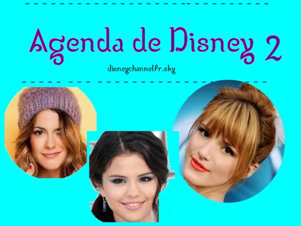 Agenda 2 de Disney et des Blog source!