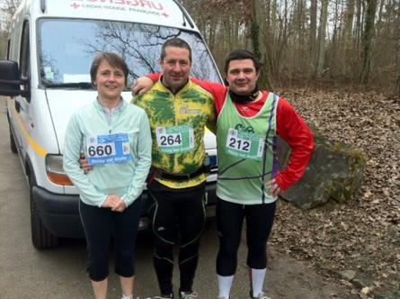 Trail des trois pignons Noisy sur Ecole (mars 2012)