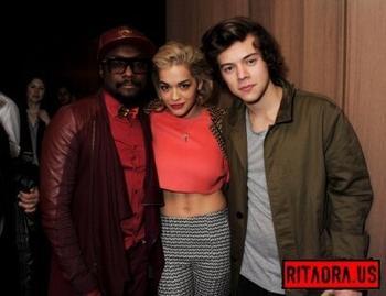#NEW   Harry, Wil.i.am & Rita tonight!