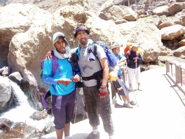 Suite :)  ASCM,cyclotourisme n°1au Maroc.la sortie :Jbel Toubkal+cascades Ouzoud+ Barrage Bin el-ouidane.(du16 au19 mai 2014).