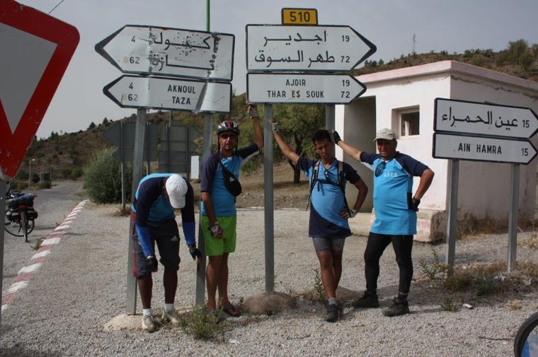 ASCM.la sortie vers La mer Méditerranée ...Fes + Tissa + Taounate + Jbel Bouadel + Issaguen +  ktama + El jebha & El Houceima. +de 300 km du 30 juillet à 3 Aout 2014.