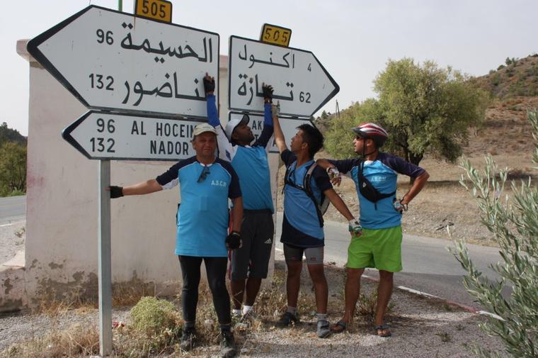 ASCM. la sortie vers La mer Méditerranée ...Fes + Tissa + Taounate + Jbel Bouadel + Issaguen + ktama + El jebha & El Houceima. +de 300 km du 30 juillet à 3 Aout 2014.