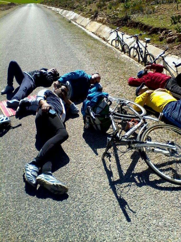 ASCM , cyclotourisme N°1 au Maroc :) .Petite balade à vélo,itinéraires (Boufakrane + Adarouche et la région..60km) le 24/02/2015