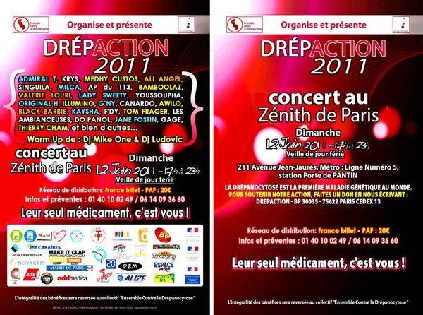 ♥♥♥ Drépaction ♥ 2011 ♥ Concert ♥ au ♥ Zénith ♥ de ♥ Paris ♥♥♥