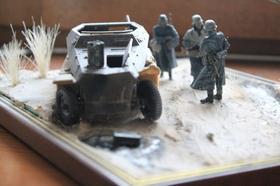 Diorama SDKFZ en hiver suite :