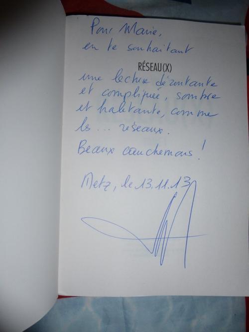 ~ Dédicace de livre - Réseau(x) ; Villeminot Part. 2
