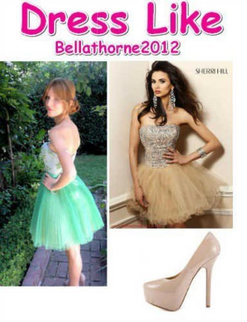 Dress like sur Bella (desolé de la qualité des images) :