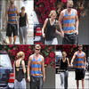 .10/07/2010 : Miley et Liam sont allés a un cours de gym ensemble .  .