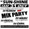 Dancefloor party mix le 31 Octobre au SUN-SHINE
