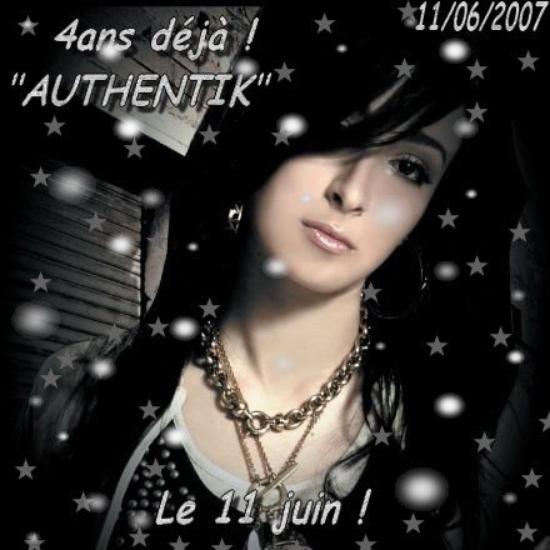 """Anniversaire de l'album """"AUTHENTIK"""" 4ans déjà !"""