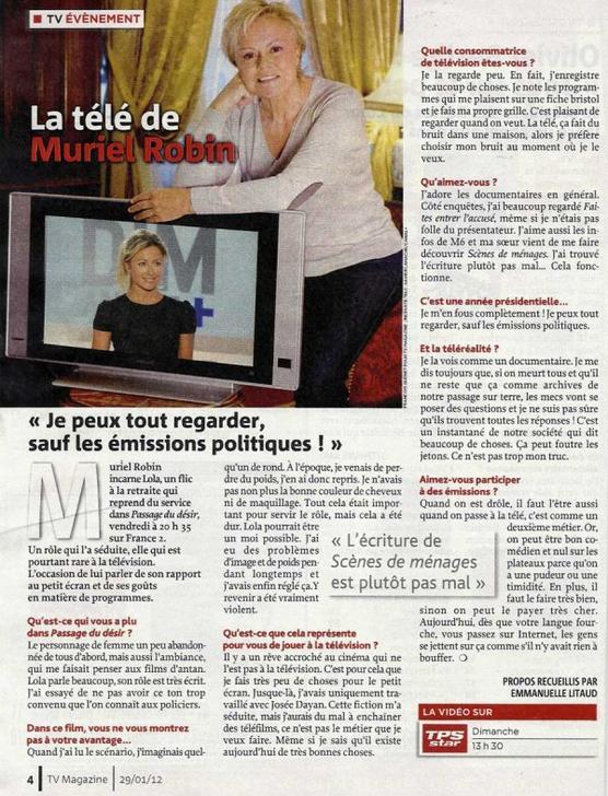 """NEWS : """"Passage du Désir"""" sur France 2, le Vendredi 3 Février."""