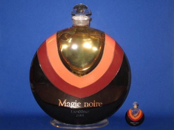 ✿ Lancôme - MAGIE NOIRE - Factice géant & flacon parfum 1ère taille -  7,5 ml ✿