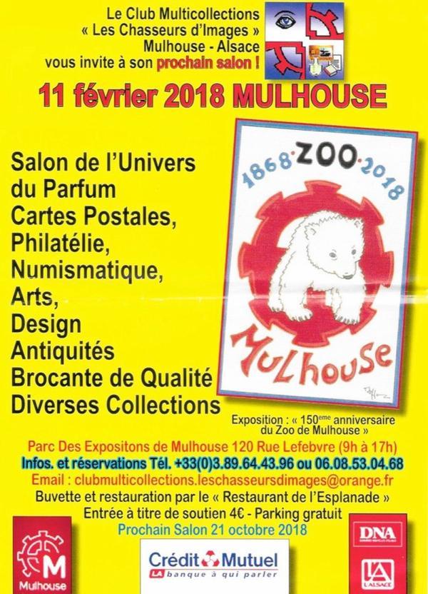 ♥ Salon de l'univers du parfum et de la carte postale - Mulhouse - 11 février 2018  ♥