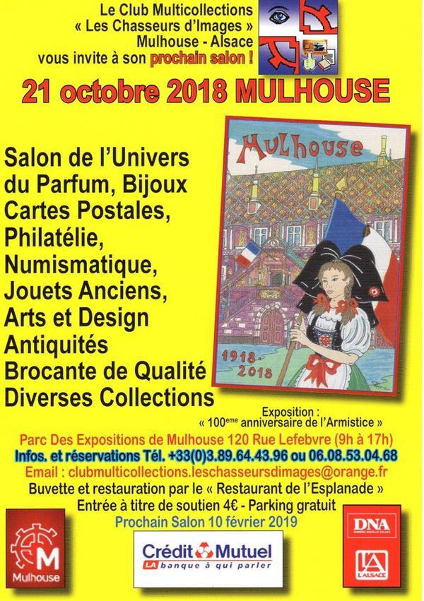 ♥ Salon de l'univers du parfum et de la carte postale - Mulhouse -  21 octobre 2018  ♥