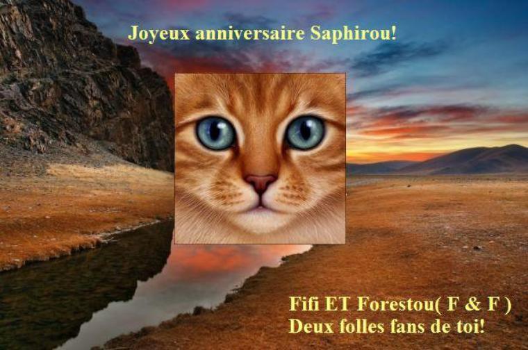 Joyeux anniversaire Saphirou!