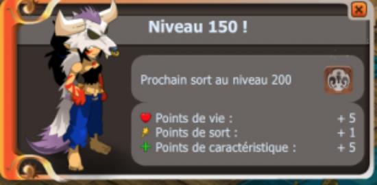 UP lvl 150