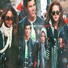 Nikki Reed (Rosalie) Taylor Lautner (Jacob) et Kristen dans les rues de Vancouver, au canada, hier. / mis en page de l'article Dear-Emma