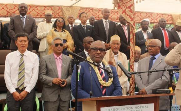 Allocution du Président AZALI : inauguration de l'Hôpital de Bambao et bilan de la première année du mandat