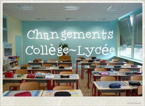 #BTS Changements Collège ~ Lycée
