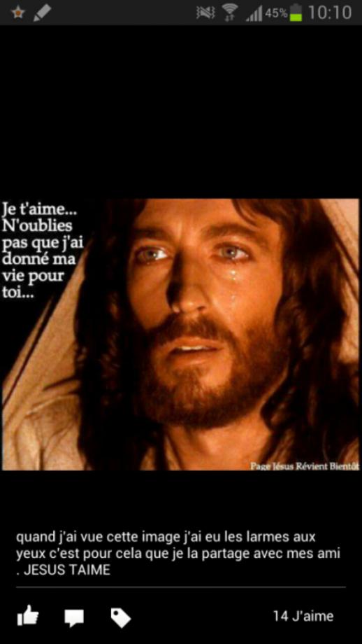 JE T'AIME MON JESUS DE NAZARET