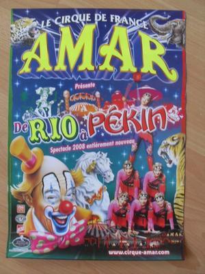 Affichette Cirque Amar