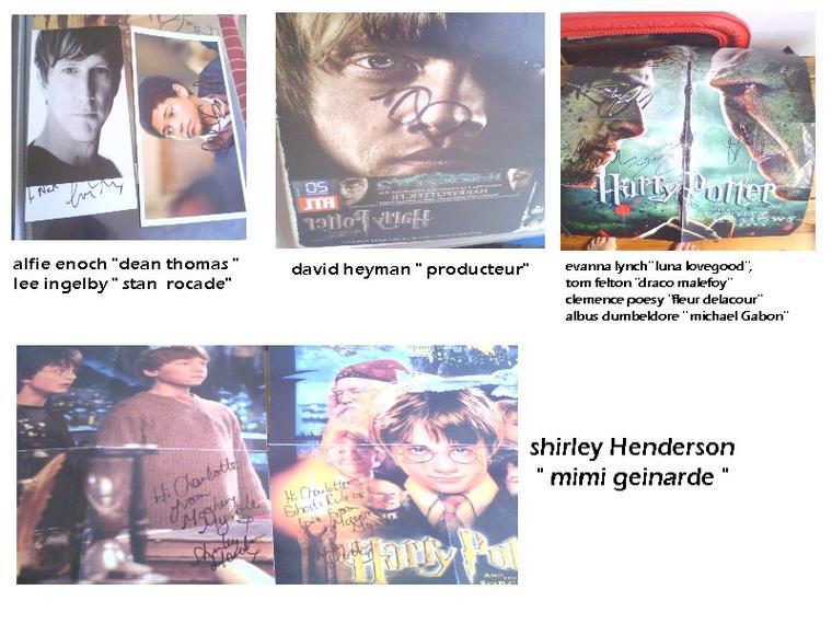 harry potter :  mes autographes