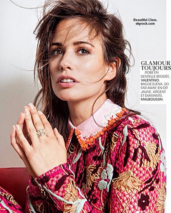 Lucie Lucas dans un magazine
