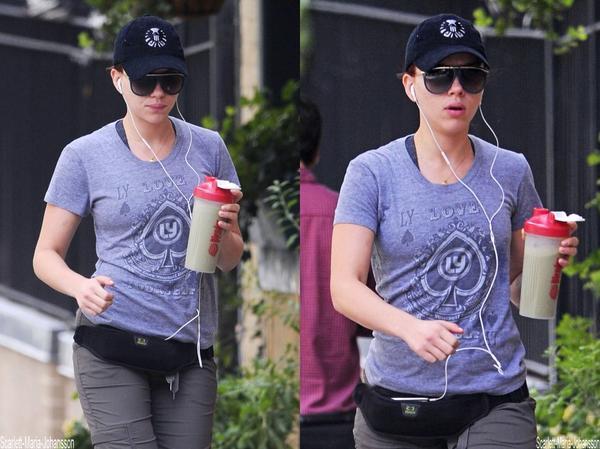 Scarlett, prenant une petite marche!