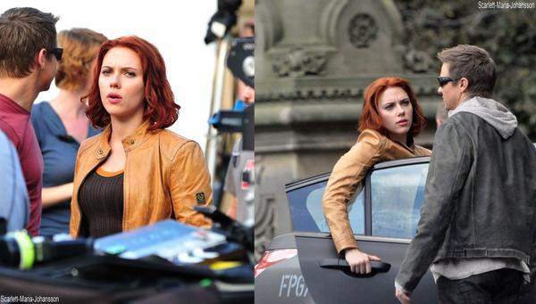 Scarlett Johansson, sur le tournage de '' The Avengers '' !