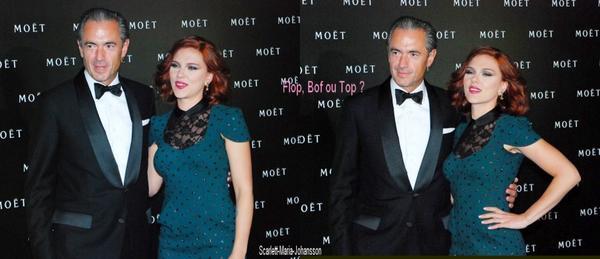 Scarlett Johansson, au  Peninsula Hotel, pour le Moet Chandon Party !