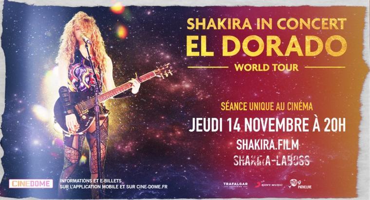 """Le concert """"El Dorado Tour"""" au cinéma (Le 01/10/2019)."""