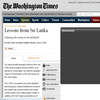 Lessons from SRI LANKA -  The Washington Times