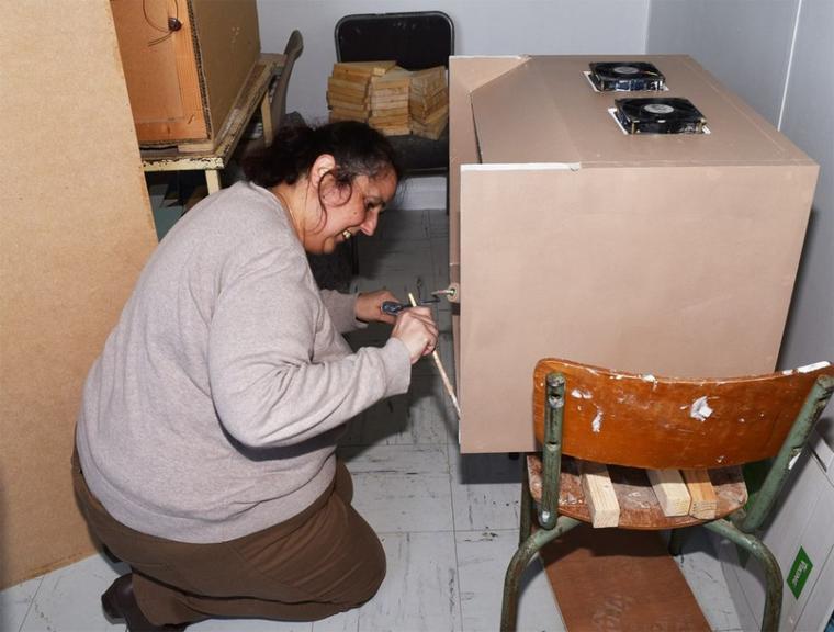 peinture de la cabine de flocage et peinture au pistolet