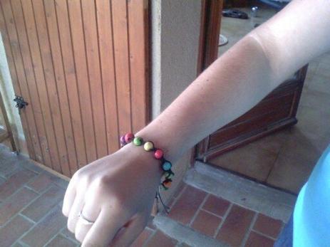 Bracelet type Shamballa: simple