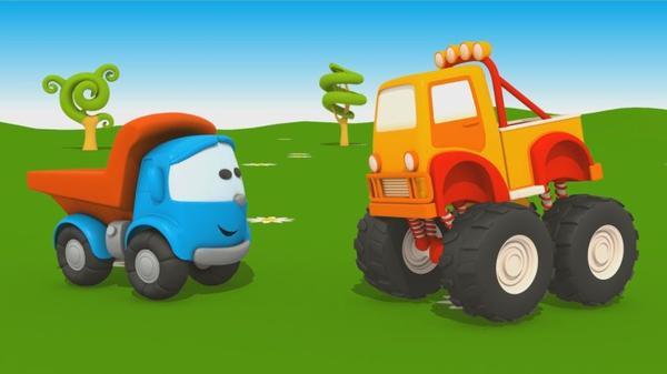 Cartoni Animati Per Bambini Camion Leo Junior E Il Monster Truck