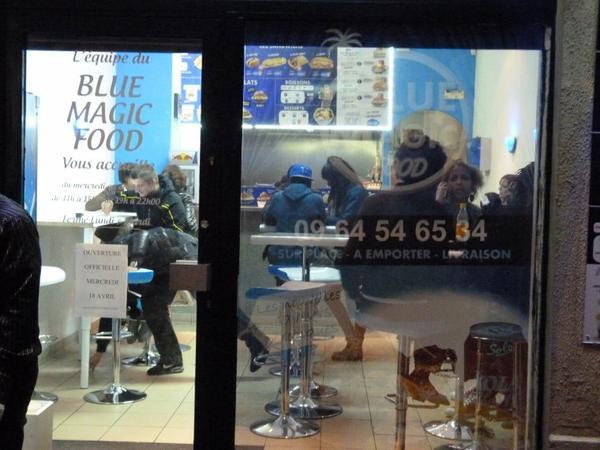 OUVERTURE DU BLUE MAGIC FOOD A LYON VILLEURBANNE LE 18 AVRIL 2012