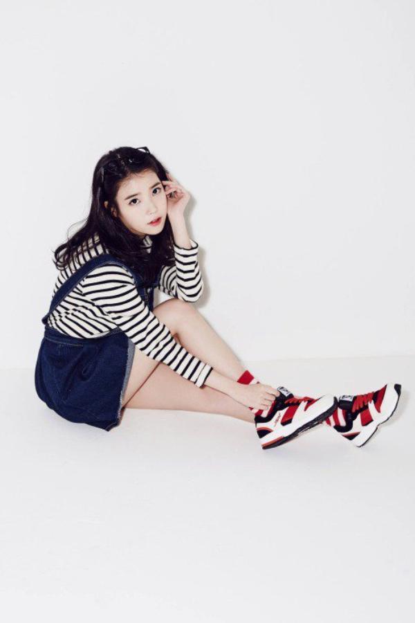 """사진   La chanteuse IU (Lee Ji Eun) et  l'acteur -mannequin  Song Jae rim  pour """"Sbenu - 2014""""   아이유 & 송재림"""