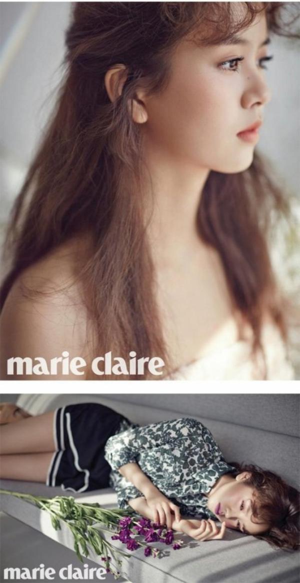 사진    L'actrice Kim So Hyun pose pour Marie Claire
